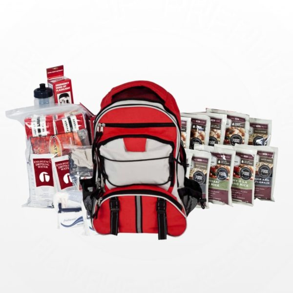 14-Day Food Storage Survival Kits - Red Backpack