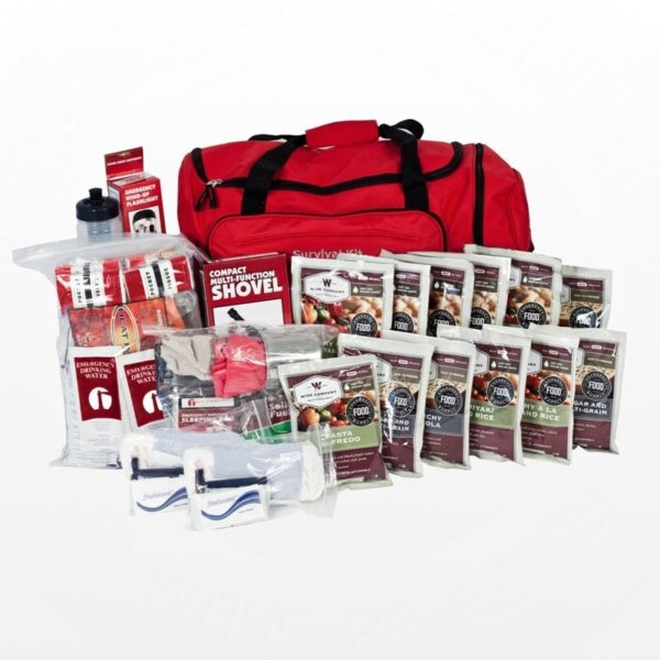 14-Day Food Storage Survival Kits - Red Duffle Bag