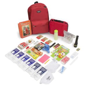 CHILDREN'S 72 HOUR SURVIVAL KIT - 864R - Red