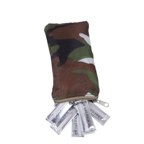 Water Purification Packets in a Camoflauge Pouch