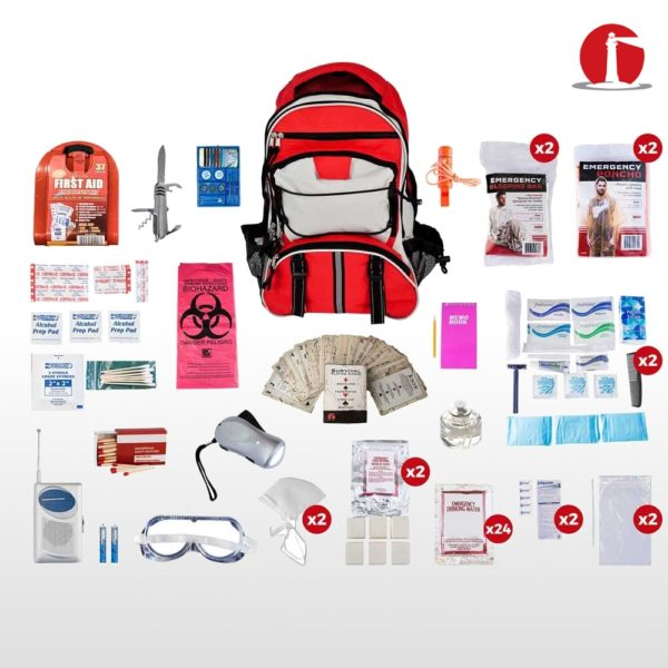 Deluxe - 2 Person Emergency Survival Kit