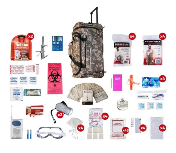4 Person Emergency Survival Kit - Deluxe