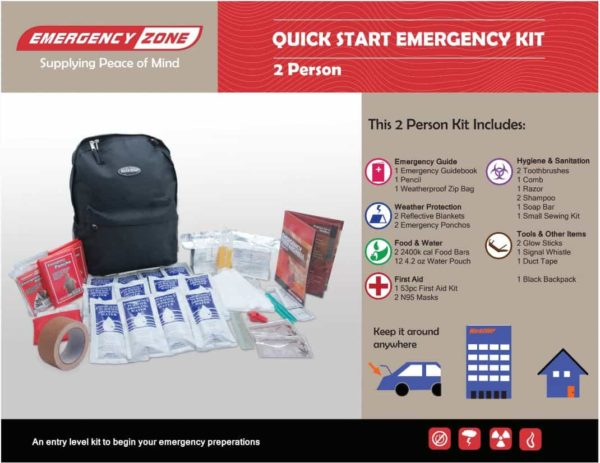 Quick Start Emergency Kit - 2 Person Quick Start Emergency Kit - 2 Person