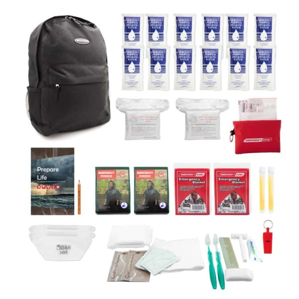 QUICKSTART EMERGENCY KIT - 2 PERSON -Products Flat Individually