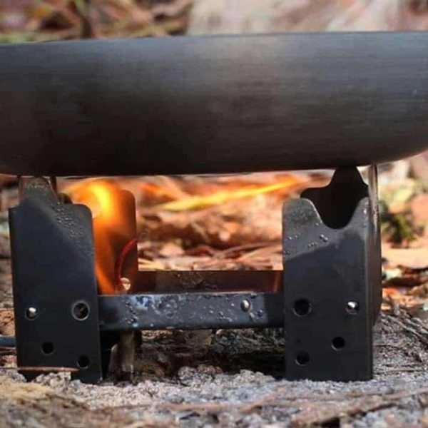 Outdoor Camping Stove burning Fuel Tabs