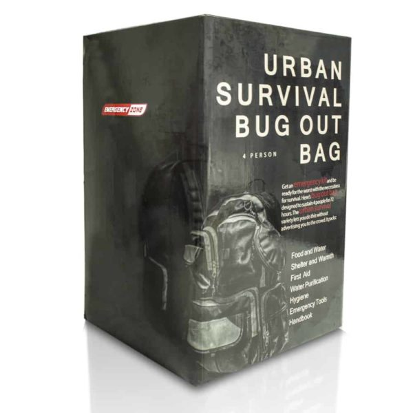 Urban Survival Bug Out Bag - 4 Person Box Display