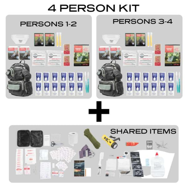 Urban Survival Bug Out Bag - 4 Person Information