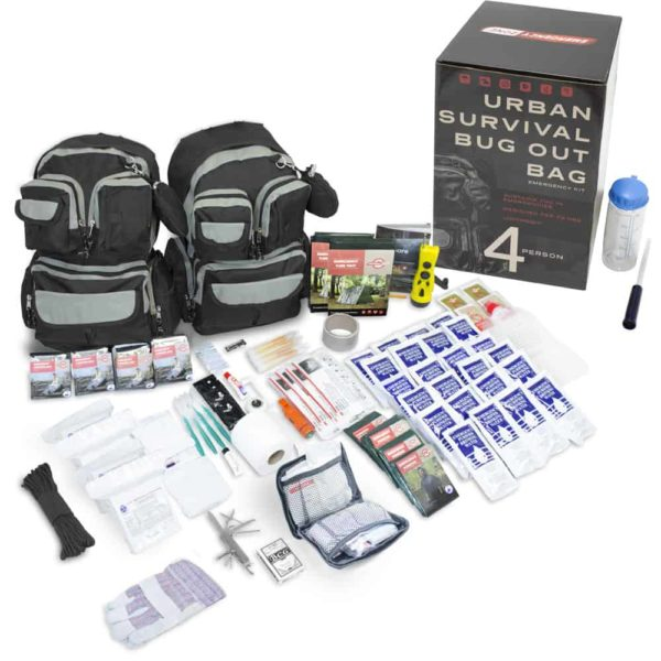 Emergency Zone Urban Survival Bug Out Bag - 4 Person