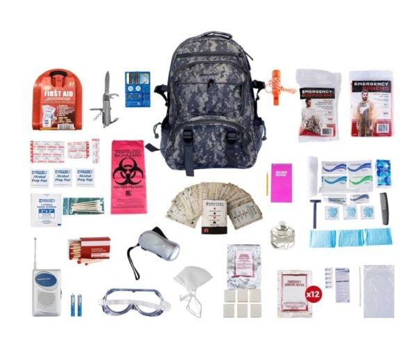 1 Person Deluxe Survival Kit (72+ Hours) - CAMO Backpack